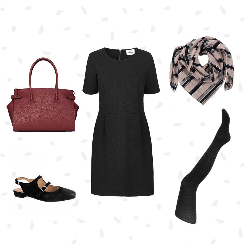 Kjole + strømper + accessories = et af de nemme go-to outfits