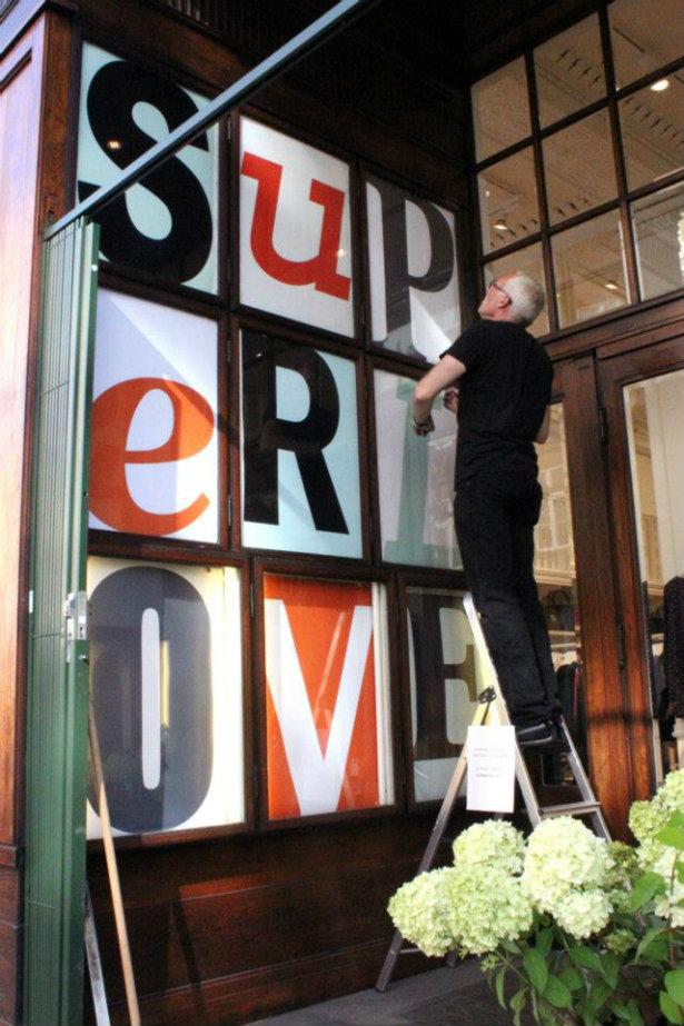Nyt indgangsparti. Arkivbillede fundet frem i anledningen af Superloves 10 års fødselsdag.