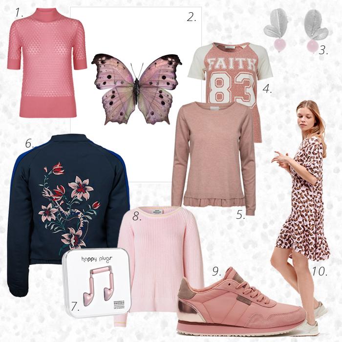 Foraarsfarver 2017. Pink, lyseroed, rosa i Superlove.