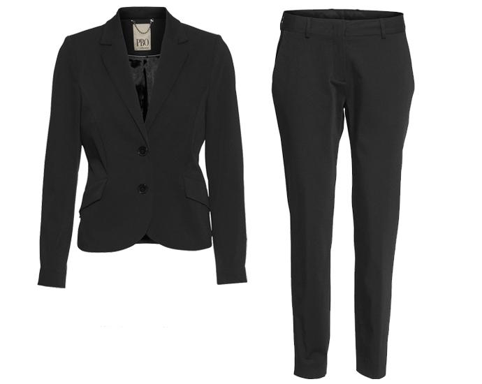 Sorte bukser og blazer fra PBO