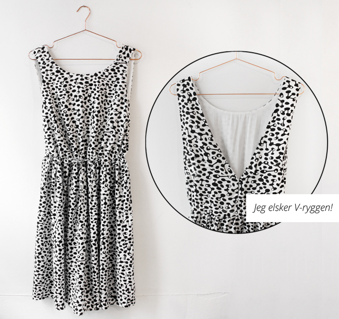 Ebony kjole fra Nümph - perfekt til at rejse light