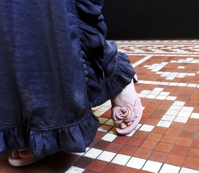 Lyserøde Chie Mihara sandaler