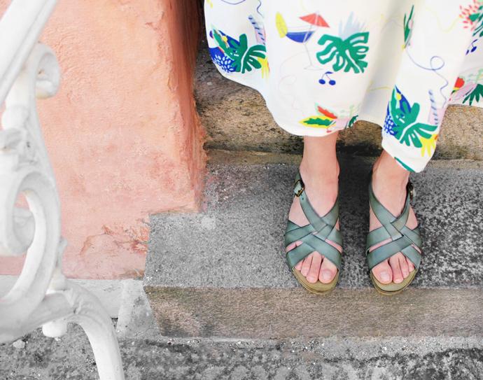 Klassiske LBDK sandaler i skind