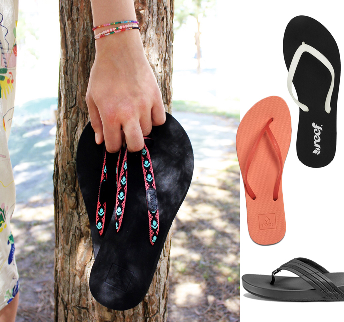 Sorte og orange Reef sandaler